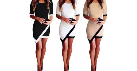 Women's Asymmetric Bodycon Dress