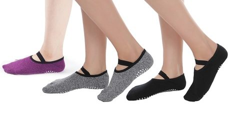Anti-Slip Ankle-Length Yoga Socks
