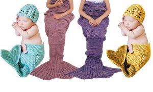 Mermaid-Tail Blanket with Hat