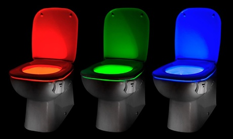Motion-Activated Toilet LED Light
