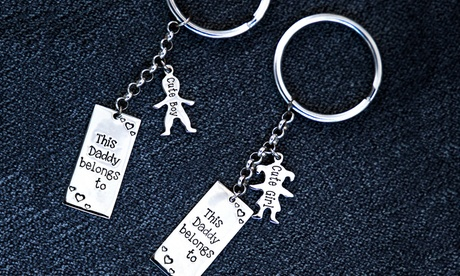 Silver Engraved Key Chain