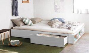 Solid MDF Wood Storage Bed