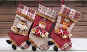 Tartan 3D Christmas Stockings