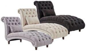 Tufted Chaise Lounge Sofa