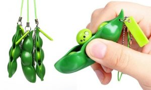 Two Squeezey Beans Keychain