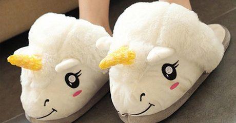 Unicorn Open-Back Slippers