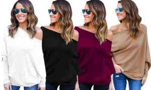 Women's Off-Shoulder Knitted Top