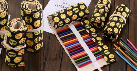 Emoji Colour Pencil Roll