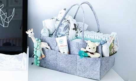 Felt Diaper Caddy Organiser