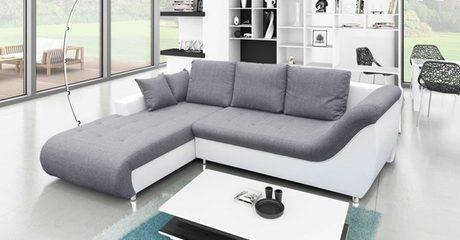 Four-Seater Sofa Bed with Storage