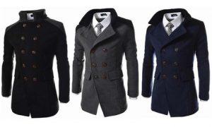 Men's Contrasting Collar Coat
