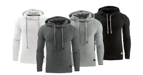 Men's Textured Hoodie