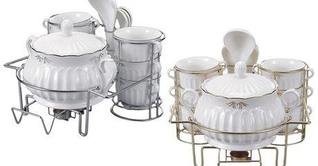 Porcelain Soup-Serving Set