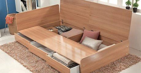 Three-Drawer Storage Bed