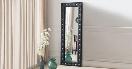 Tufted Full-Length Mirror