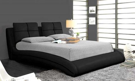 Upholstered Curved Bed Frame