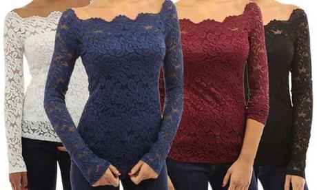 Women's Lace Off-Shoulder Top