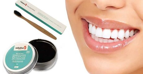 Charcoal Toothbrush and Powder