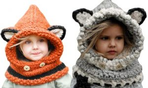 Children's Hooded Scarf