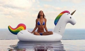 Inflatable Unicorn Pool Float