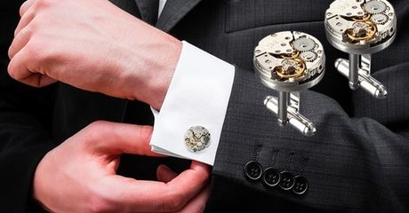 Watch Movement-Design Cufflinks