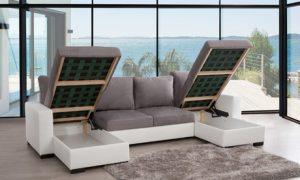 Five-Seater Double-U Corner Sofa