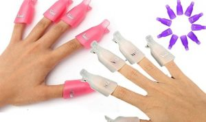 Gel Nail Polish-Removal Clips