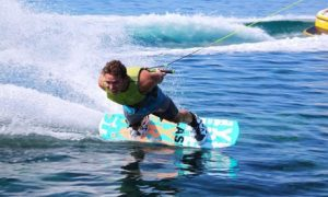 Water Skiing or Wakesurfing