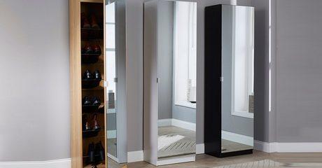 Aimee Mirrored Shoe Cabinet