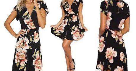 Bohemian-Style Wrap-Around Dress