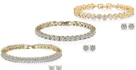 Crystal Zircon Jewellery Duo Set