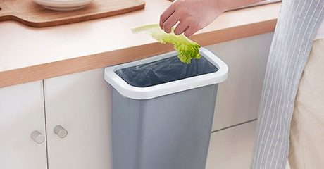 In-Cabinet Door-Mounted Trash Can