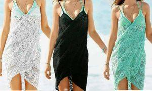 Lace Beach Wrap Dress