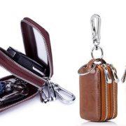 Leather Car Key Chain Holder