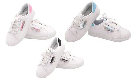 Women's Crystal-Detail Sneakers