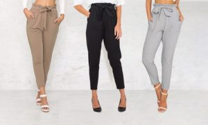 Women's High-Waisted Trousers