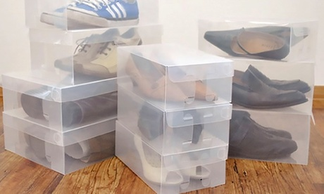 Plastic Foldable Shoe Boxes