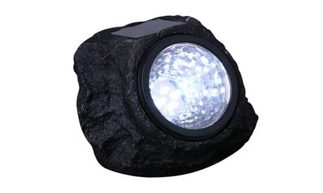 Solar-Powered LED Rocks