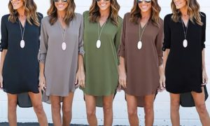 V-Neck Tunic Tops