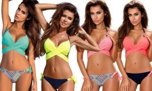 Wrap-Top Push-Up Bikini