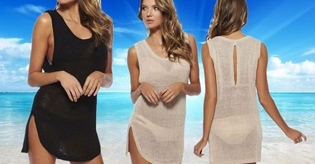 Shimmer Knit Beach Cover-Up Dress