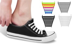 2 Pairs Silicone No-Tie Shoelaces