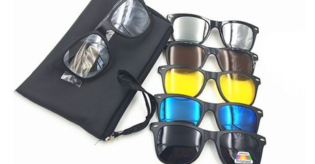 Five-in-One Clip-on Sunglasses