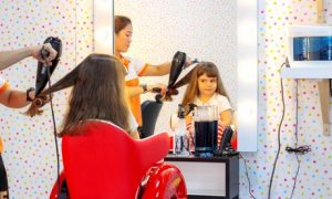 A haircut may become less stressful for the child in the colourful and playful surroundings; mani-pedi with polish is available for girls for AED45.00 at Discount Sales.