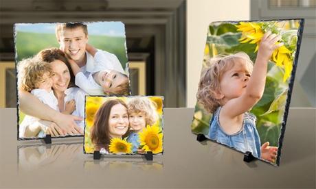 Personalized Stone Slate Photo Prints