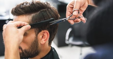 Gents can undergo a makeover with a grooming package including a cut paired with extras like a beard trim or shave