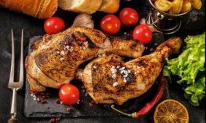 Burger or Half Chicken; Eat-In or Takeaway