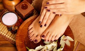 Fingernails and toenails can experience buffing