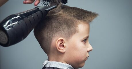 One or two boys or girls can enjoy a new style with a haircut at this kids friendly salon based on Khalidya street for AED25.00 at Discount Sales.