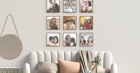 """Set of Three 8"""" x 8"""" Photo Tiles"""